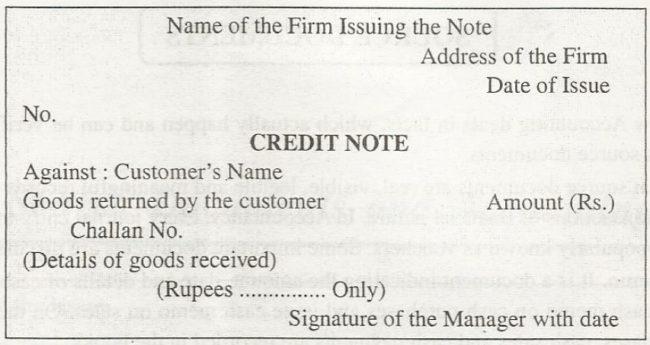 Credit Note format UK Exceltemple