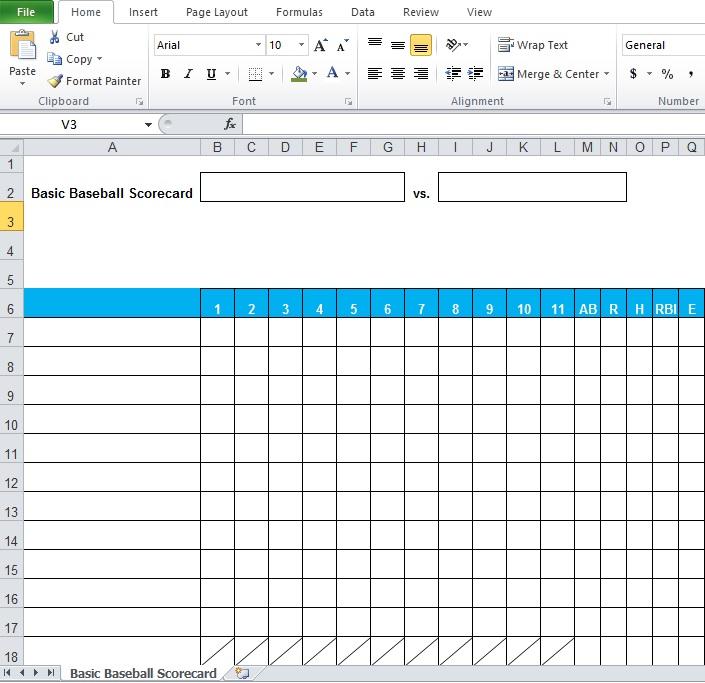 Baseball Stats Spreadsheet Excel Template - Excel Tmp - baseball stats sheet template