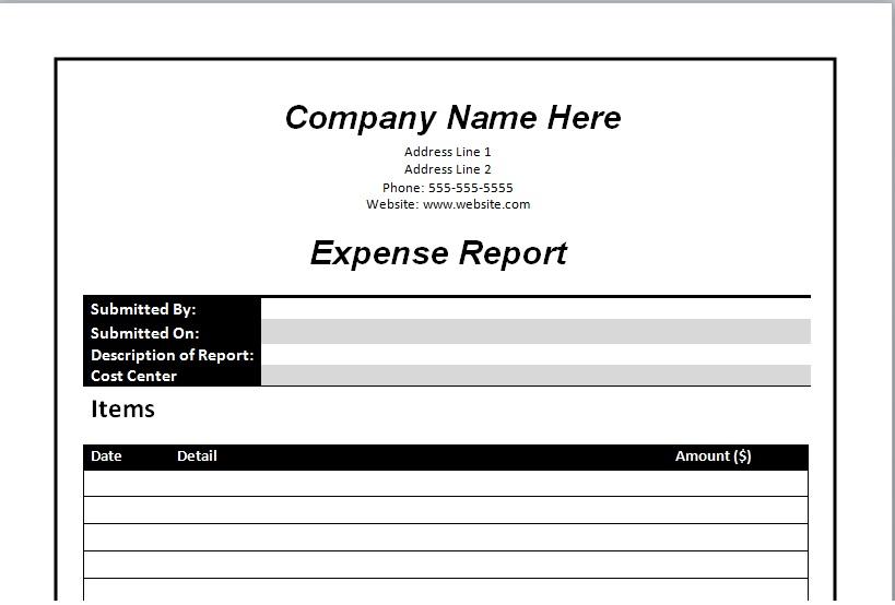 Business Report Format Sample Template - Excel Tmp - company report template