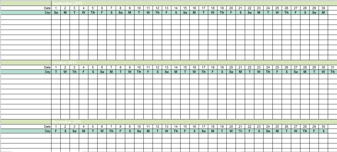 Employee Vacation Tracking Excel Template 2015 - Excel Tmp