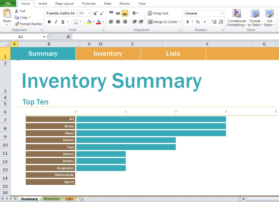 Free Inventory Spreadsheet Sample Template - Excel Tmp