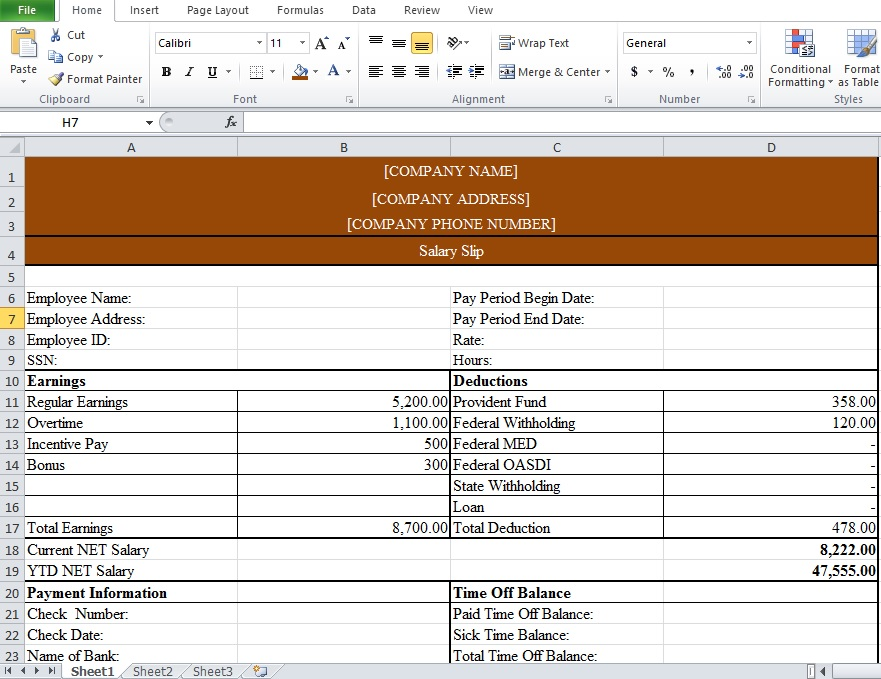 Basic payslip template excel Free Download for Windows - mandegarinfo - basic payslip template excel