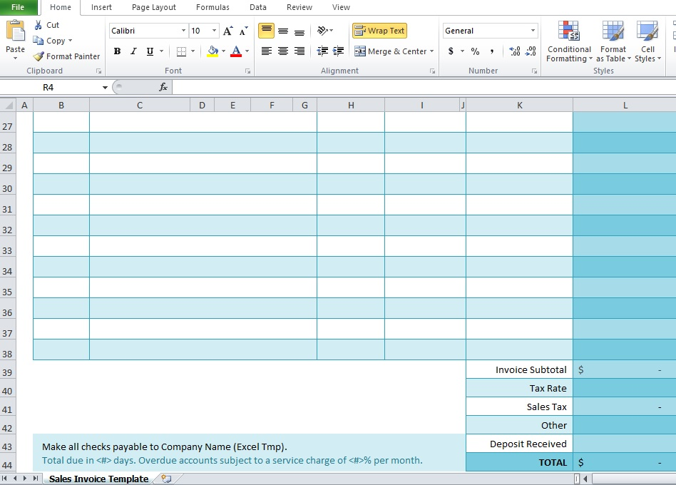 excel template free download
