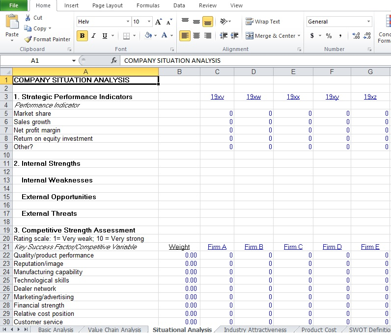 Competitive Analysis Example Template - Excel Tmp - competitive analysis format