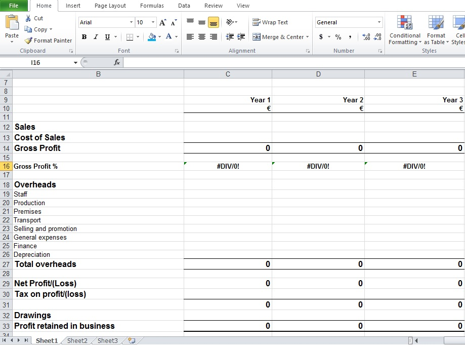 free profit and loss worksheet – Excel Profit and Loss Worksheet