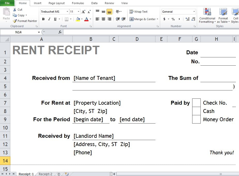 Where Can You Find The Best Excel  Word Rental Receipt Templates