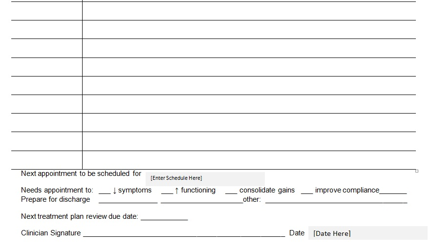 Patient Medical Progress Notes Template Word - Excel Tmp