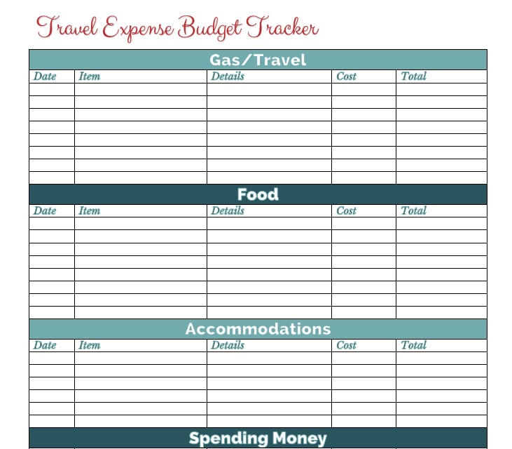3+ Travel Budget Template Word, Excel And PDF - Excel Tmp - travel budget template