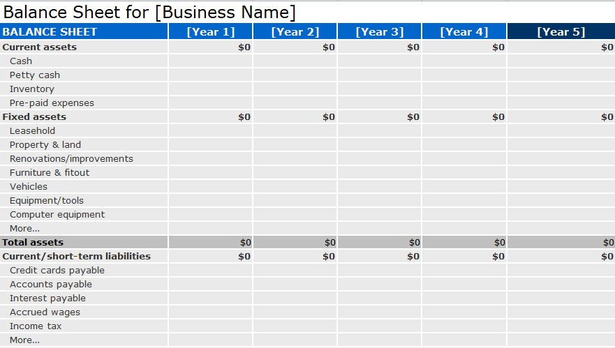Balance Sheet Template Format Excel And Word - Excel Tmp - accounting balance sheet template