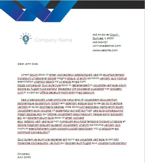 Professional Company Letterhead Template MS Word - Excel Tmp