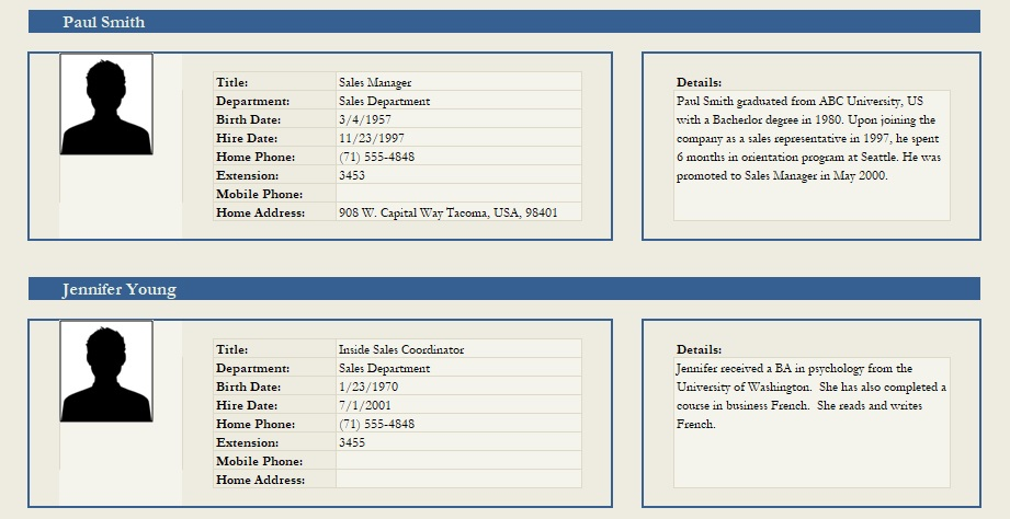 Professional Employee Profile Template Excel And Word - Excel Tmp