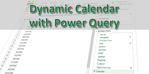 Creating a Dynamic Calendar for Your Data Model - Excel