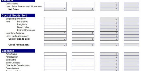 Payroll Statement Template Income And Expense Statement Template - printable expense sheet