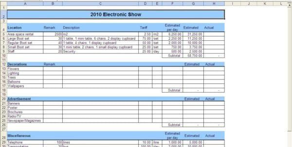 Budget Expense Report Monthly Expense Spreadsheet Template