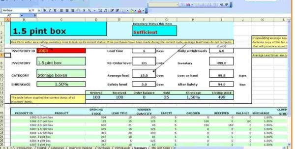 Excel Inventory Tracking Template Inventory Spreadsheet Template For - free excel inventory templates