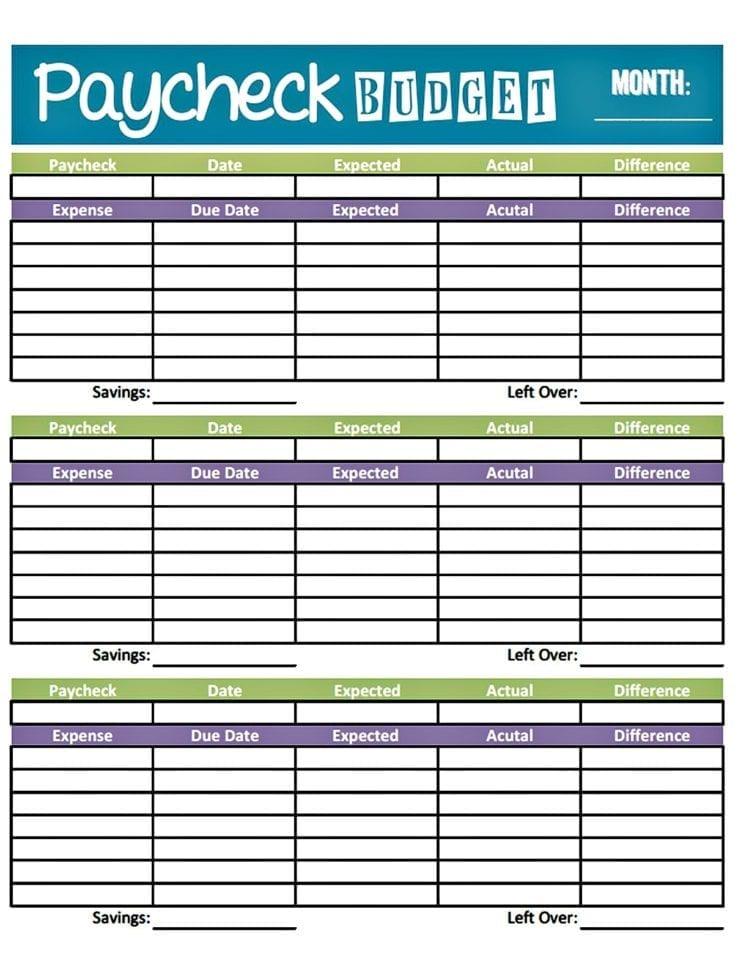 Monthly Budget Form Fillable Free Monthly Budget Spreadsheet - free budget form