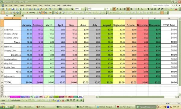 Profit And Loss Spreadsheet Template Profit Loss Spreadsheet