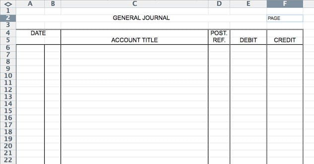 Accounting Journal Entry Template Accounting Journal Template - accounting forms in excel