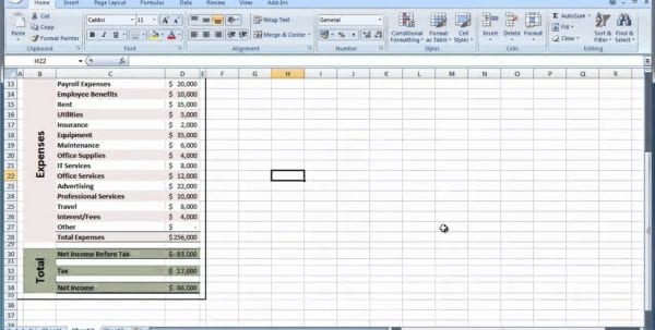Common Size Income Statement Template Excel Income Statement
