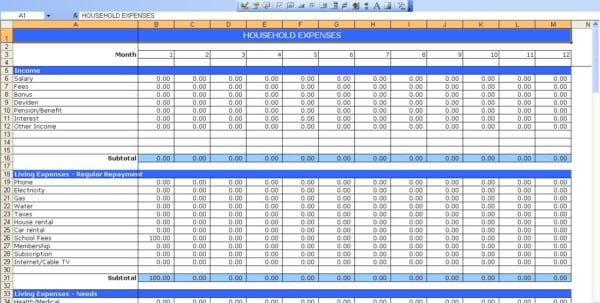 Daily Income And Expense Excel Sheet 2 Excel Spreadsheet Template