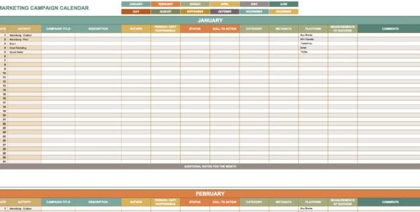 Digital Marketing Plan Template Excel Marketing Spreadsheet Template - digital marketing plan template