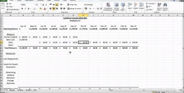 Discounted Cash Flow Excel Template Cash Flow Excel Spreadsheet