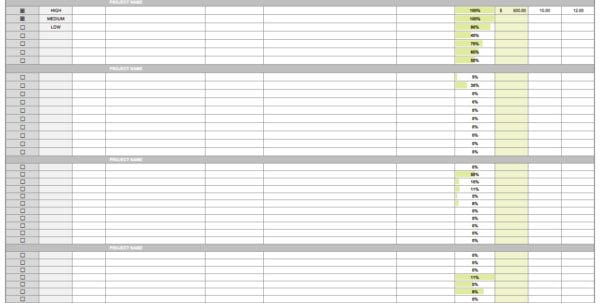 Free Excel Project Management Tracking Templates Task Spreadsheet - daily task sheet template