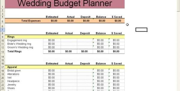 Free Printable Budget Wedding Checklist 1 Wedding Spreadsheet - wedding list
