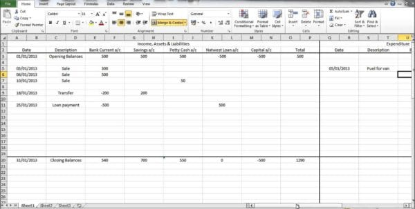 Free Printable Spreadsheet Excel Spreadsheet Template For Expenses