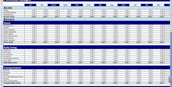 Income And Expenditure Template Excel Free Expense Tracking