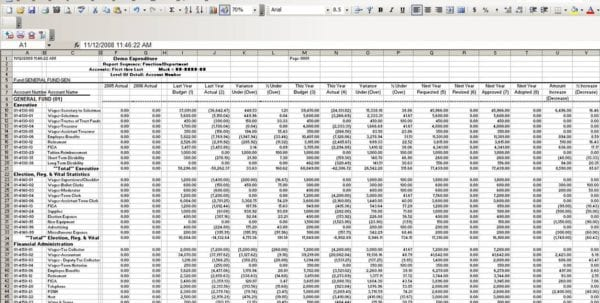 Monthly Expenses Template 1 Excel Spreadsheet Template For Expenses