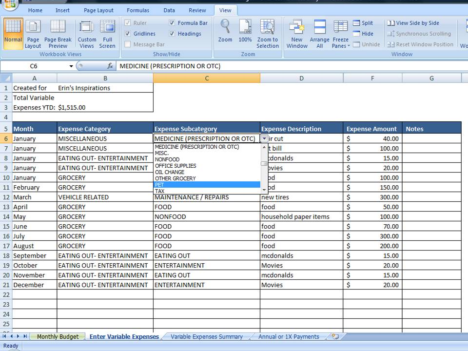 Personal Budget Example Personal Budget Finance Finance Spreadsheet - personal budget worksheets