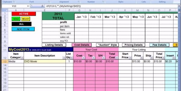 Profit And Loss Statement For Small Business Profit Spreadsheet