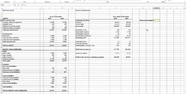 Profit And Loss Statement Template For Self Employed Profit - profit and loss statement self employed