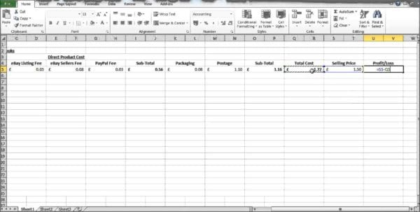 Profit And Loss Template Excel Profit And Loss Spreadsheet Template