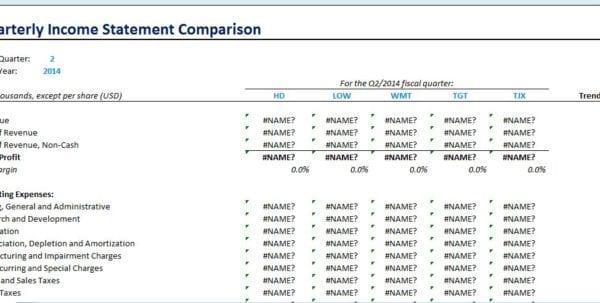 Quarterly Financial Statement Template Quarterly Income Statement - sample income statement