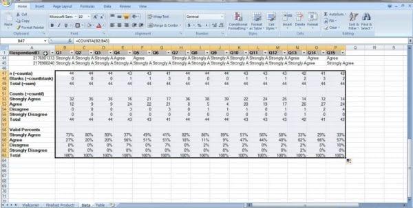 Sample Excel Survey Template Survey Spreadsheet Template Survey