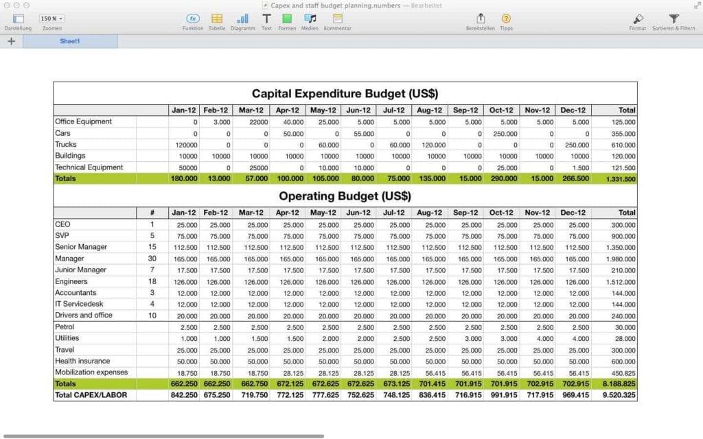 Budget Spreadsheet Online Budget Spreadsheet Template Mac