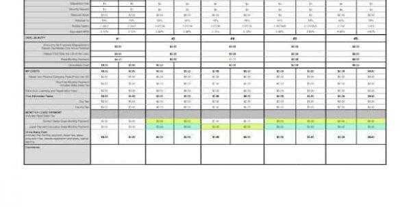 Comparison Charts Templates Comparison Spreadsheet Template - mortgage loan comparison spreadsheet