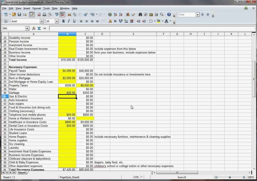 family budget spreadsheet excel - Josemulinohouse