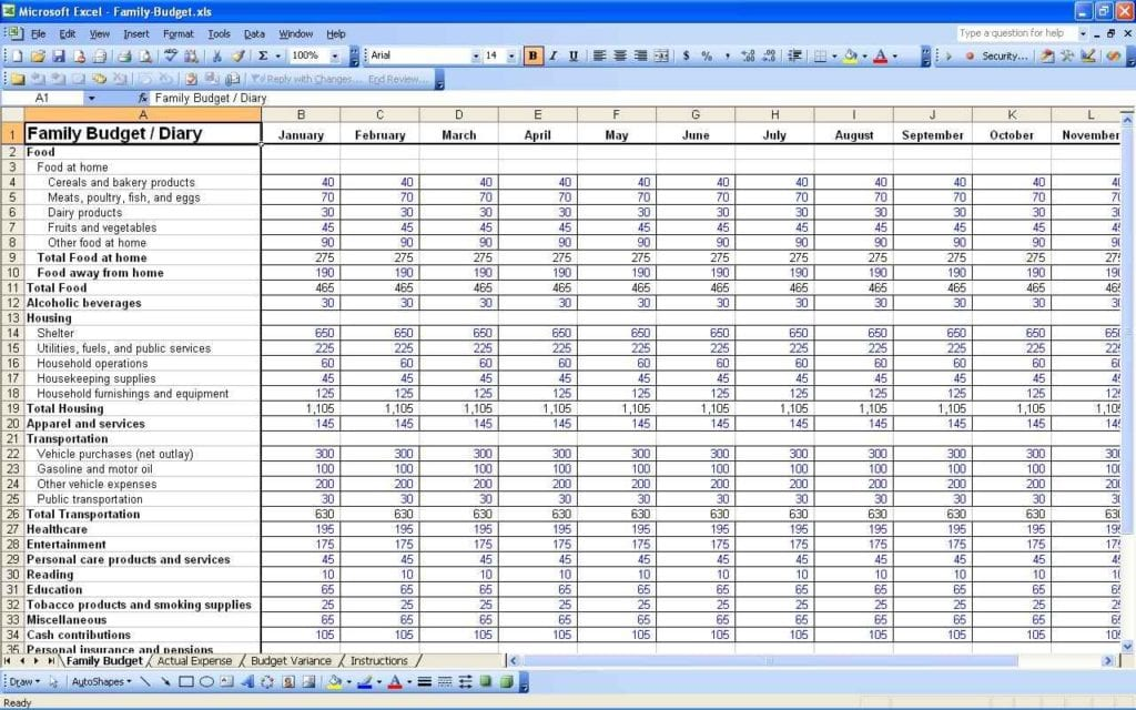 Food Cost Tracking Spreadsheet Cost Spreadsheet Template Spreadsheet