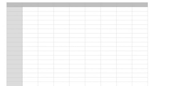 Free Blank Excel Spreadsheet Templates Printable Spreadsheet - free blank spreadsheet templates
