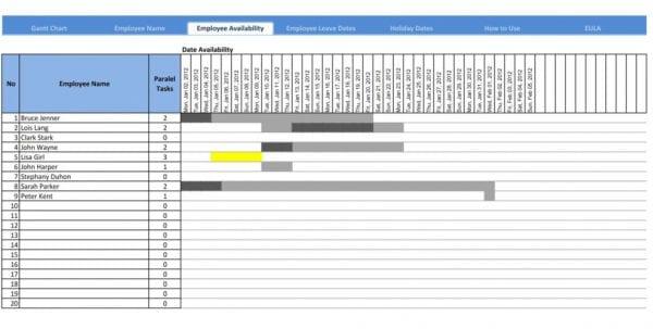 Gantt Chart Excel Templatels Excel Spreadsheet Gantt Chart Template