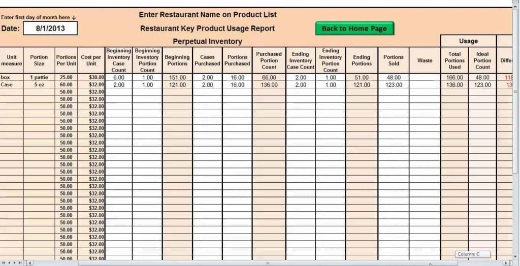 Inventory Spreadsheet Template Excel Product Tracking Inventory - inventory sheet template free download