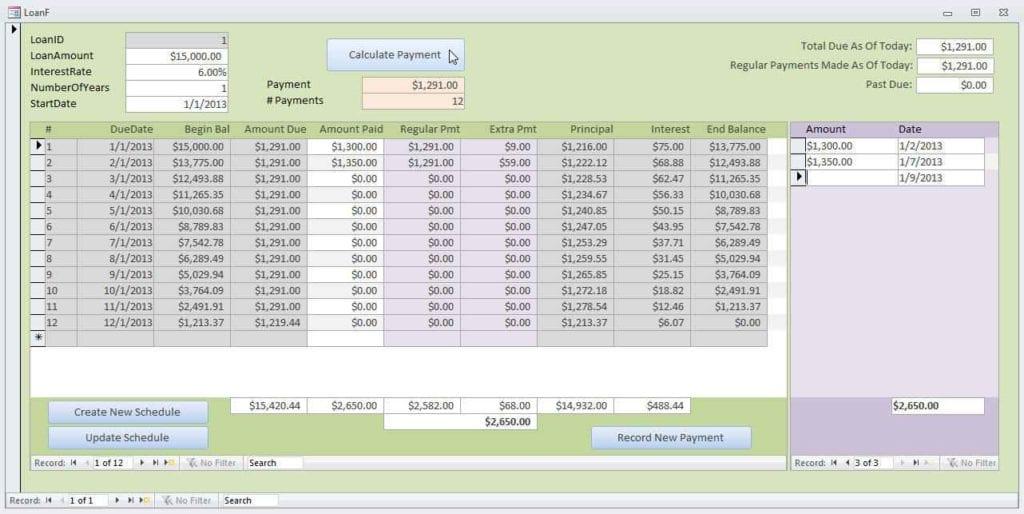 Loan Amortization Calculator By Payment Amount Loan Amortization