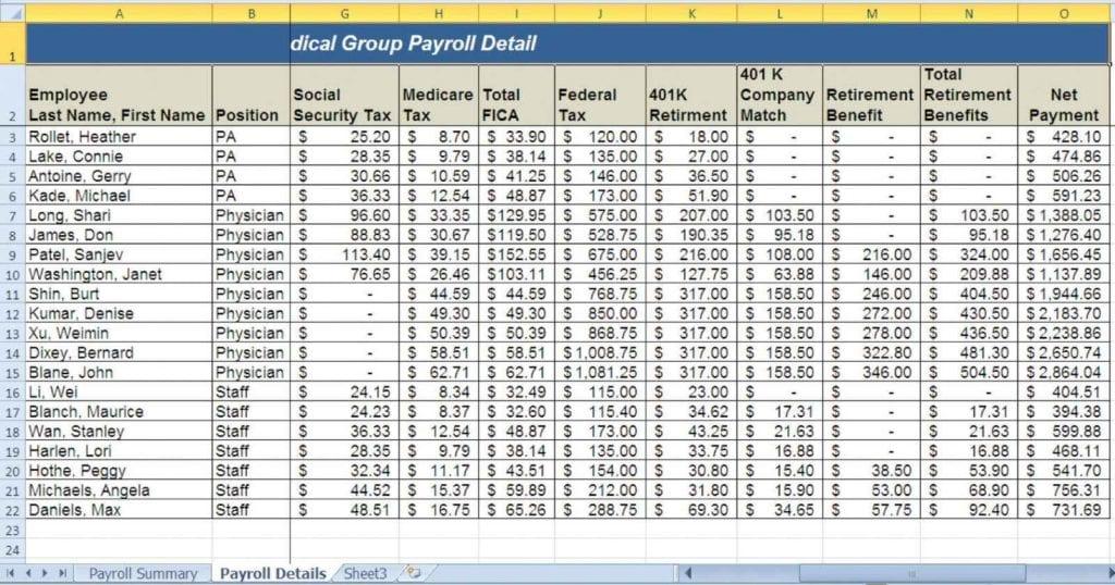 Payroll Budget Spreadsheet Payroll Spreadsheet Payroll Spreadsheet
