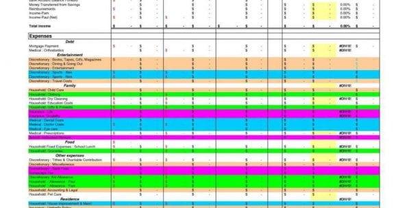 Personal Budget Spreadsheet Uk Sample Personal Budget Spreadsheet