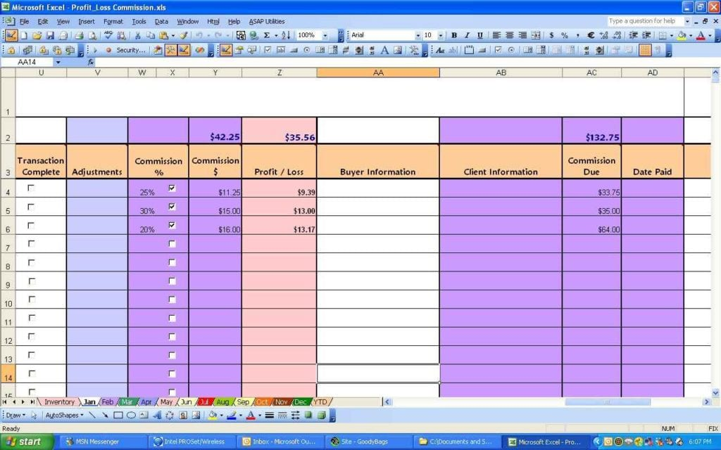 Profit And Loss Spreadsheet Template Free Profit Loss Spreadsheet