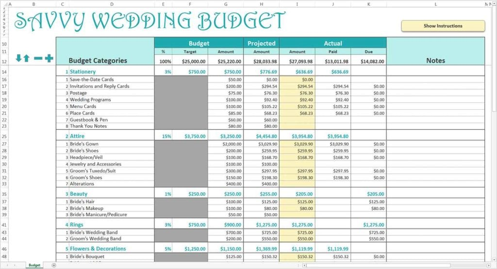 Wedding Budget Checklist Uk Wedding Budget Spreadsheet Budget