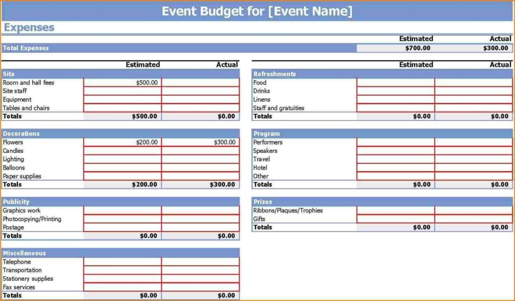 Wedding Budget Excel Spreadsheet Template Wedding Spreadsheet